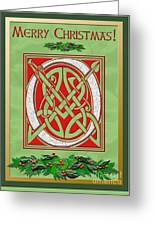 Celtic Christimas O Initial Greeting Card