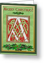 Celtic Christmas A Initial Greeting Card