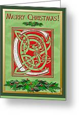 Celtic Christmas C Initial Greeting Card