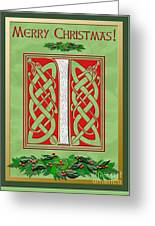 Celtic Christmas I Initial Greeting Card