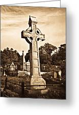 Celtic Cross In Sepia 1 Greeting Card