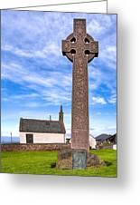 Celtic Cross On The Scottish Coast At North Berwick Greeting Card