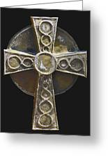 Celtic Cross Sepia Greeting Card