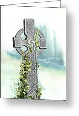 Celtic Cross With Ivy II Greeting Card