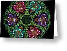 Celtic Fairy Mandala Greeting Card