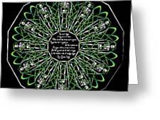 Celtic Flower Of Death Greeting Card