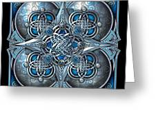 Celtic Hearts - Blue And Silver Greeting Card