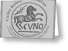 Celtic Horse Coin Greeting Card