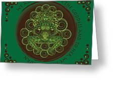 Celtic Pagan Fertility Goddess Greeting Card