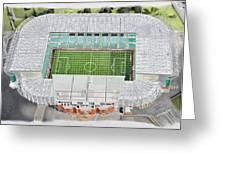 Celtic Park Stadia Art - Celtic Fc Greeting Card