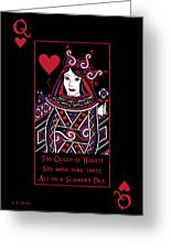 Celtic Queen Of Hearts Part I Greeting Card