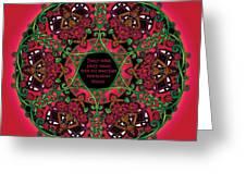 Celtic Summer Fairy Mandala Greeting Card