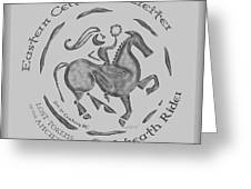 Celtic Wreath Rider Coin Greeting Card