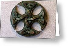 Celticross 1 Greeting Card by Flow Fitzgerald