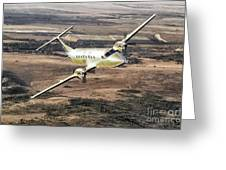 Cemair Beech 1900 Plane Airplane Flying Flight Greeting Card