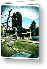 Cematary With Lemon Tree Greeting Card