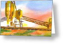 Cement Plant II Greeting Card