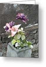 Cemetary Flowers 2 Greeting Card