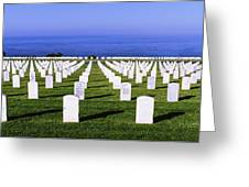 Cemetery At Waterfront, Fort Rosecrans Greeting Card