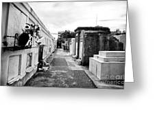 Cemetery Departed Greeting Card by John Rizzuto