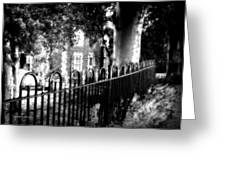 Cemetery Fence Greeting Card