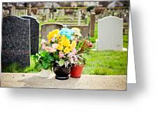 Cemetery Flowers Greeting Card
