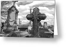 Cemetery Graves Greeting Card