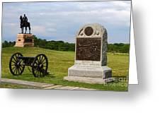Cemetery Ridge Gettysburg Greeting Card by James Brunker
