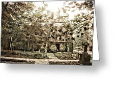 Cemetery Sunflares Greeting Card