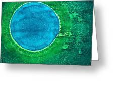 Cenote Original Painting Greeting Card