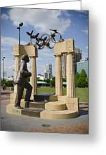Centennial Olympic Park Sulpture Greeting Card