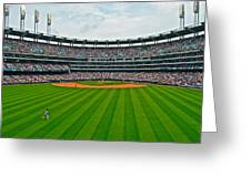 Center Field Greeting Card by Frozen in Time Fine Art Photography