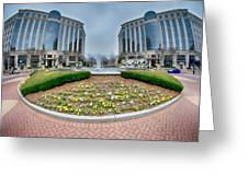 Center Fountain Piece In Piedmont Plaza Charlotte Nc Greeting Card