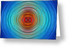 Center Point - Abstract Art By Sharon Cummings Greeting Card