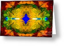 Centered In Peace Abstract Pattern Artwork By Omaste Witkowski Greeting Card