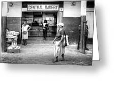 Central Bakery St. Lucia Greeting Card