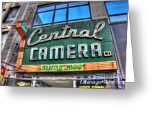 Central Camera Greeting Card