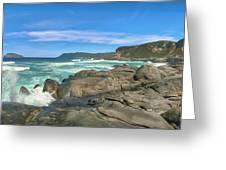 Central Coast Ca Ocean Waves Crashing On Rocks  4 Greeting Card