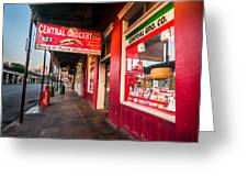 Central Grocery And Deli In New Orleans Greeting Card