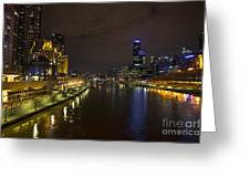 Central Melbourne Skyline In Australia Greeting Card