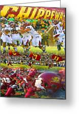 Central Michigan Football Collage Greeting Card