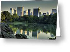 Central Park Lake Looking South Greeting Card