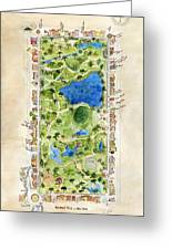 Central Park And All That Surrounds It Greeting Card
