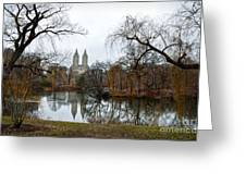 Central Park And San Remo Building In The Background Greeting Card