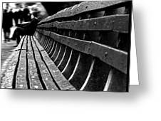 Central Park Bench Greeting Card