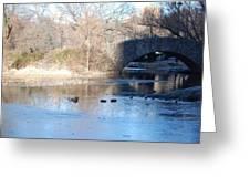 Central Park Bridge Greeting Card