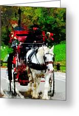 Central Park Carriage Greeting Card