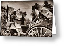 Central Park Carriage Ride - Antique Appeal Greeting Card