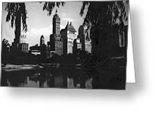 Central Park Evening View Greeting Card
