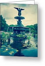 Central Park Fountain Greeting Card